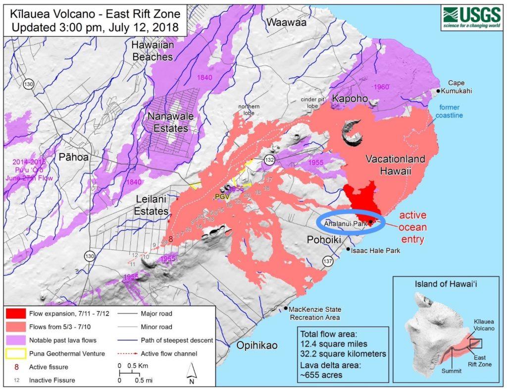 2018年ハワイ島プナ地区南部の火山活動